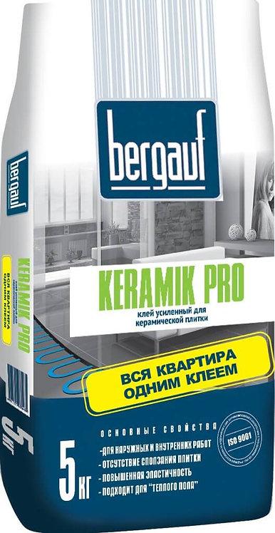 Усиленный клей для плитки и керамогранита Бергауф Керамик Про 5кг