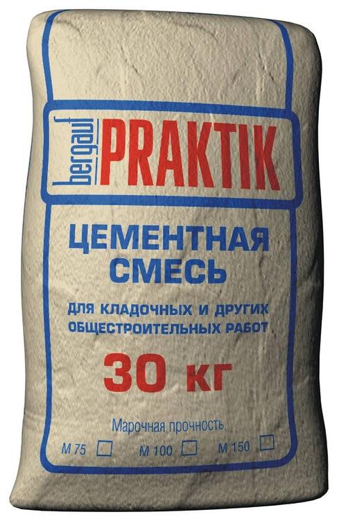 Цементная смесь для кладочных и общестроительных работ Бергауф Практик М-100