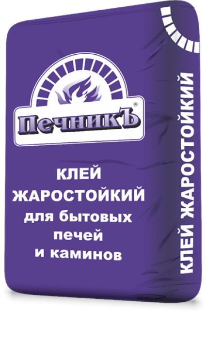 Клей жаростойкий для бытовых печей и каминов Печникъ, 20кг