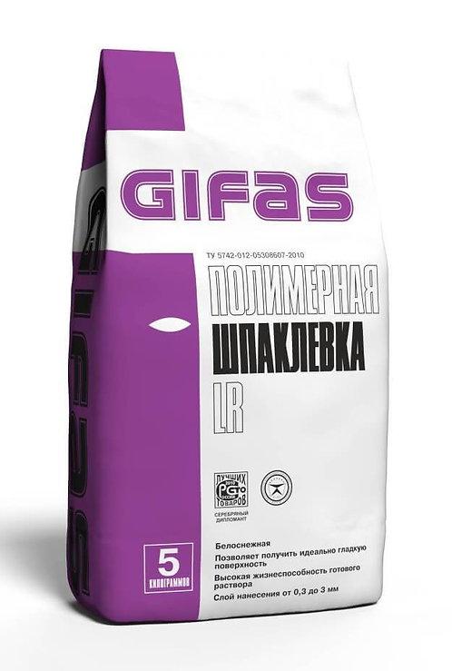 Шпаклевка полимерная Гифас ЛР (Gifas LR) белоснежная, 5кг