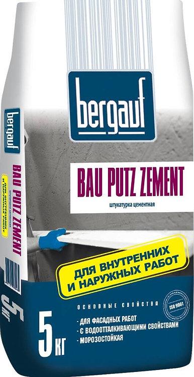 Штукатурка Бергауф Бау Путц Цемент водо- и морозостойкая, 5кг