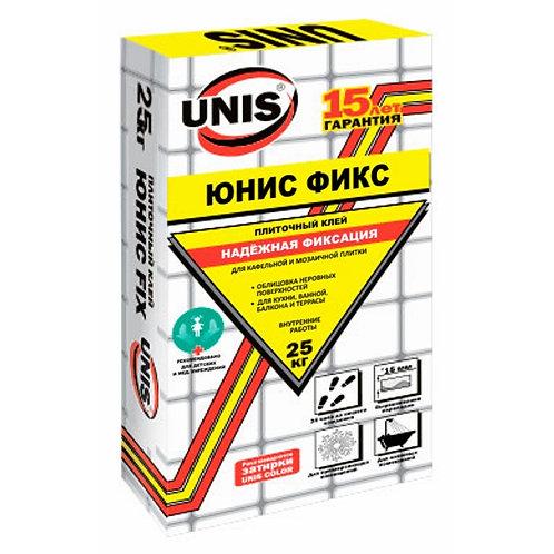 Клей для плитки и кладки ячеистых блоков Юнис Фикс (Unis Fix), 25кг