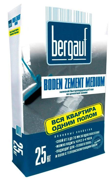 Быстротвердеющий наливной пол Бергауф Боден Цемент Медиум толщ.3-60мм, 25кг