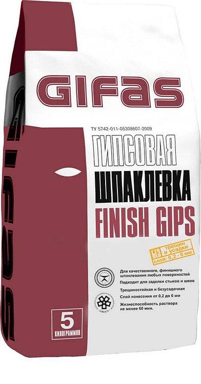 Шпаклевка финишная Гифас Финиш Гипс (Gifas Finish Gips), 5кг
