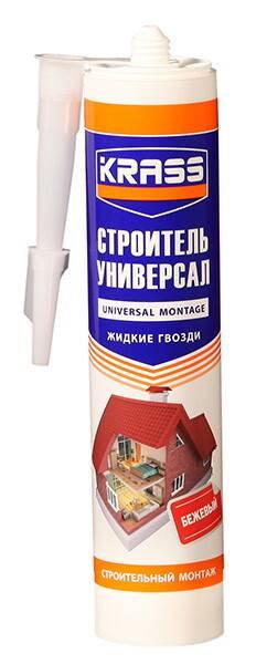 Жидкие гвозди KRASS универсальные Строительный монтаж (Строитель универсал) 300м