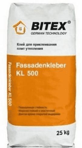 Клей Битекс Фасаденклебер 500 для монтажа утеплителя, 25кг