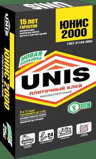 Клей для плитки и керамогранита Юнис 2000 (Unis 2000), 5кг