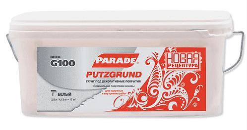 Грунтовка под декор. покрытие Парад G100 Putzgrund 5л