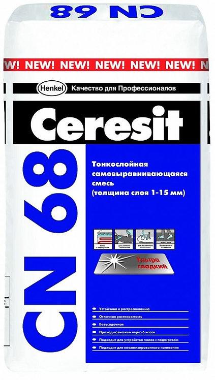 Смесь Церезит CN68 для выравнивания пола в помещениях, толщ.1-15мм, 25кг