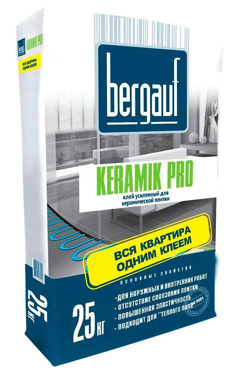 Усиленный клей для плитки и керамогранита Бергауф Керамик Про 25кг