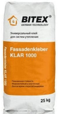 Штукатурно-клеевая смесь Битекс Фасаденклебер 1000 для монтажа утеплителя, 25кг