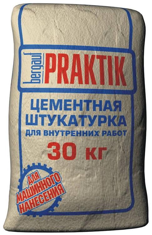 Штукатурка цементная для внутренних работ Бергауф Практик (Bergauf Praktik), 30к
