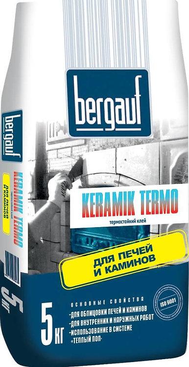 Клей для облицовки печей и каминов Бергауф Керамик Термо 5кг