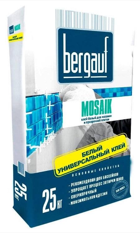 Клей для плитки, мозаики и бассейнов Бергауф Мозаик (Bergauf Mosaik), 25кг