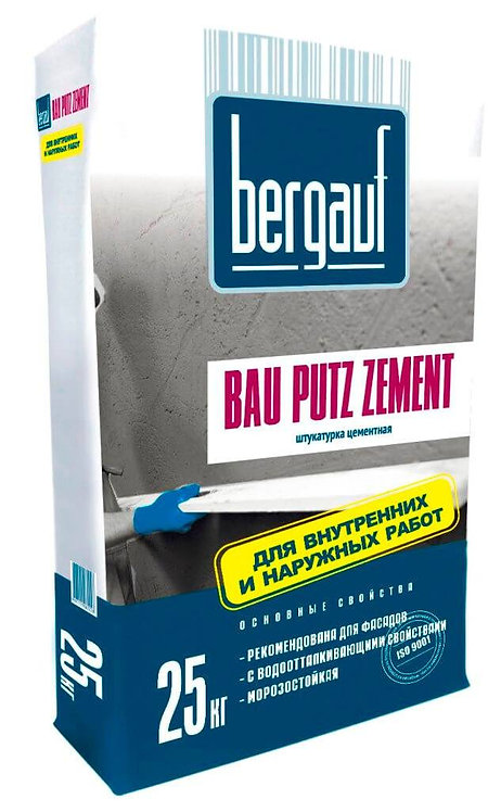 Штукатурка Бергауф Бау Путц Цемент водо- и морозостойкая, 25кг