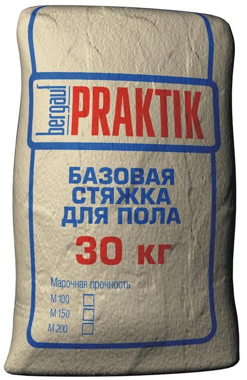 Базовая стяжка для пола Бергауф Практик М-200, толщ.5-80мм, 30кг