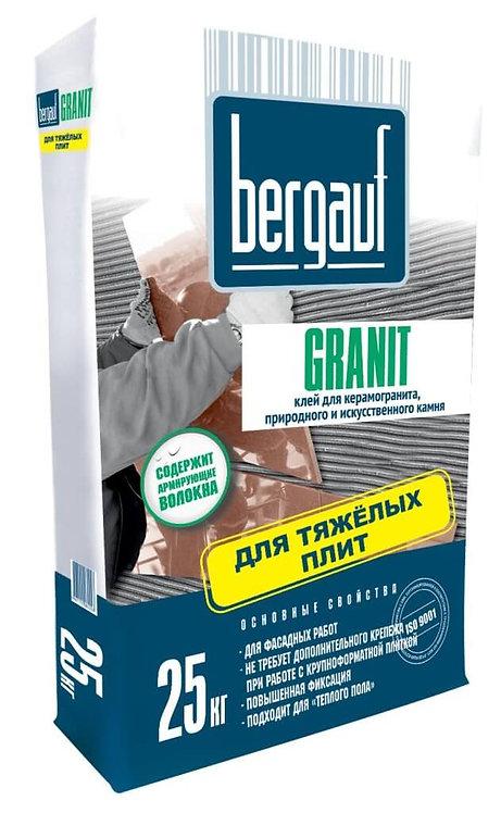 Клей для плитки, керамогранита и камня Бергауф Гранит (Bergauf Granit), 25кг