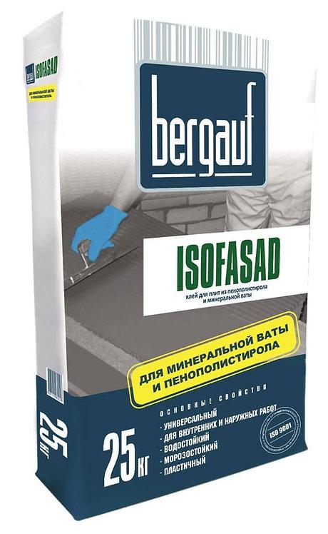 Клей Бергауф Изофасад для монтажа пенополистирола и минеральной ваты 25кг