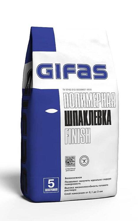 Шпаклевка полимерная Гифас Финиш (Gifas Finish) белоснежная под покраску, 5кг