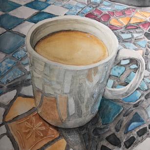 Coffee Talk? (watercolor study)