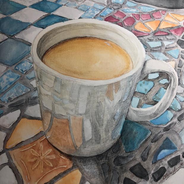 Coffee Talk? (watercolor study)