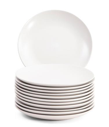 matte white dinner plates