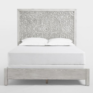 carved boho headboard