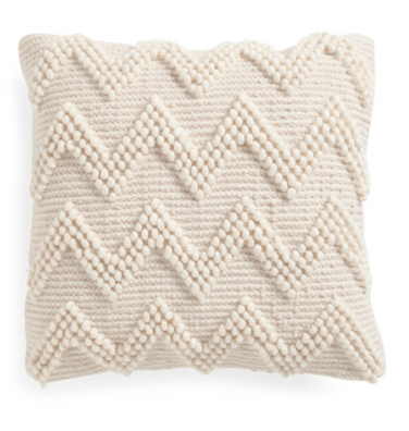textured ivory throw pillow