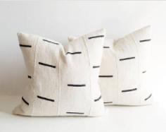 black & white mudcloth pillows