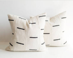 black & white mudcloth pillows