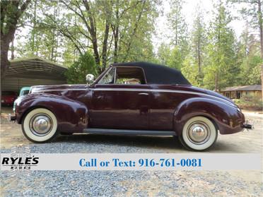 1940 Mercury Eight Sport Convertible!