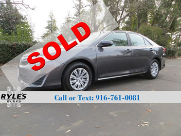 2012 Toyota Camry LE - Only 63K Miles!