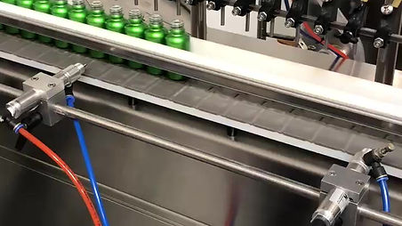 Filling CBD Oil bottles in the ISO approved lab
