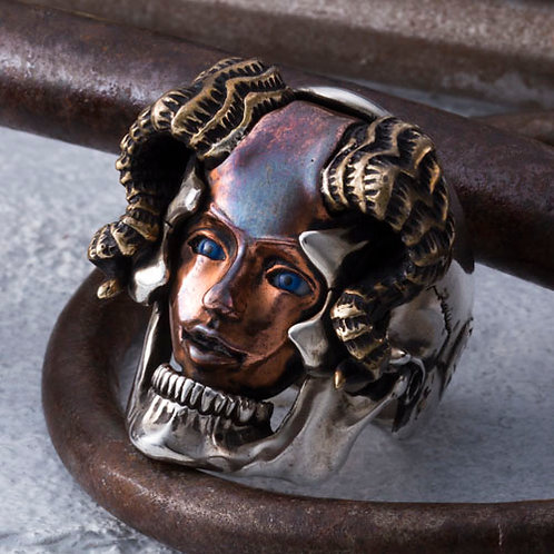 Succubus Ring Copper face Glass Eye