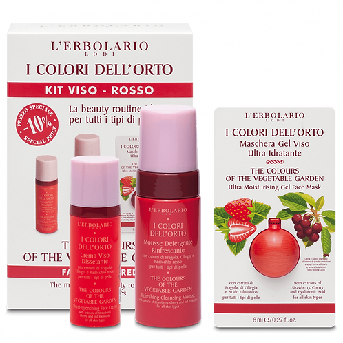 The Colours of the Vegetable Garden Facial Kit - Red