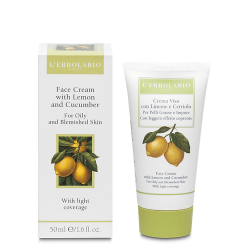 Face Cream with Lemon and Cucumber