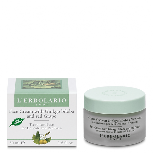 Face Cream with Ginkgo Biloba and Red Grape