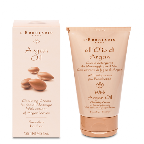Argan Oil Cleansing Cream for Facial Massage with extract of Argan Leaves