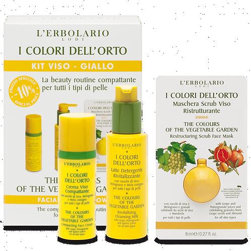 The Colours of the Vegetable Garden Facial Kit - Yellow