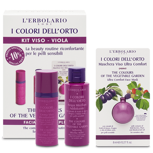 The Colours of the Vegetable Garden Facial Kit - Purple