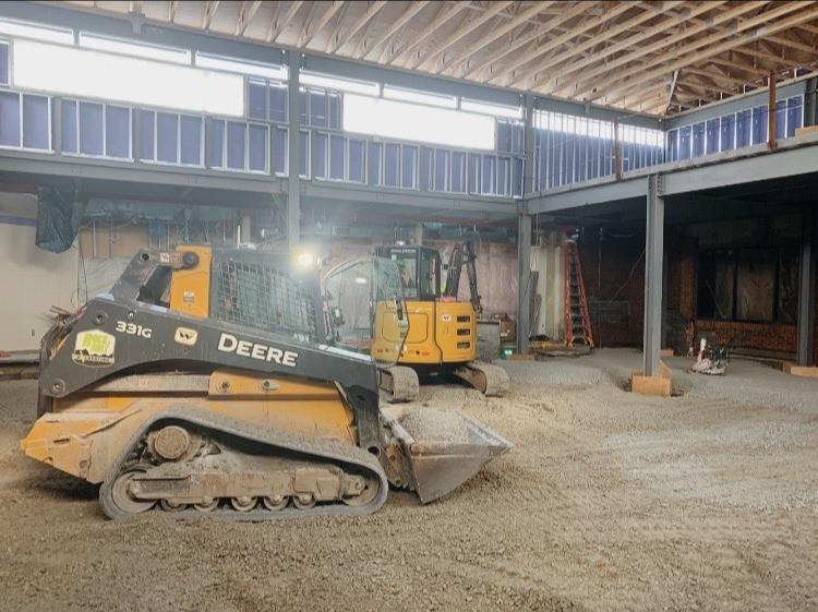 J.C. Ripberger, Amy Beaverland School Renovation: foundation excavation, slab on grade, & site concrete prep