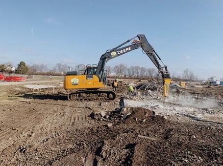 J.C. Ripberger, Indianapolis International Airport: site development & utilites