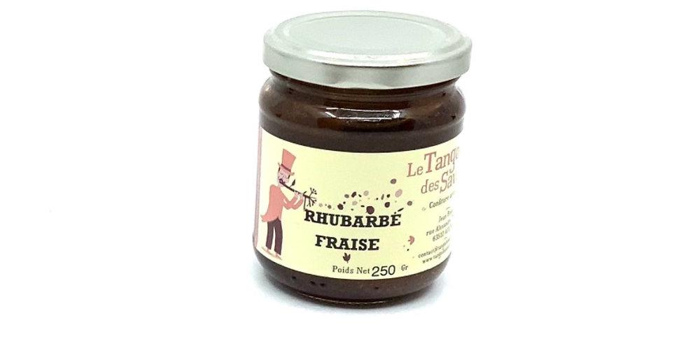 Confiture Rhubarbe Fraise, 250Gr, Le Tango Des Saveurs