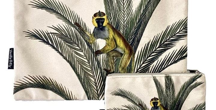 Pochette Velours Singe Palmiers, Vanilla Fly
