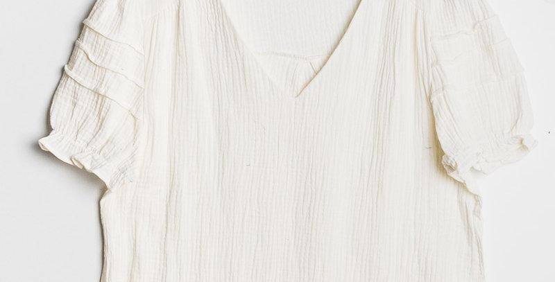 Blouse Gaze Coton Blanc