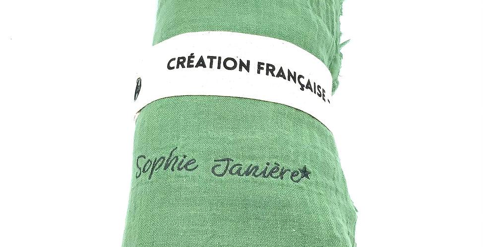 Plaid Double Coton Amande, Sophie Janière