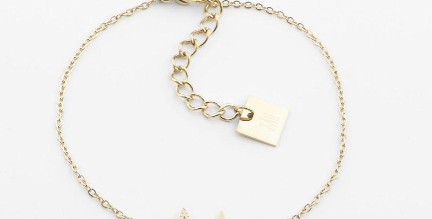 Bracelet Double Star Acier Doré, Zag