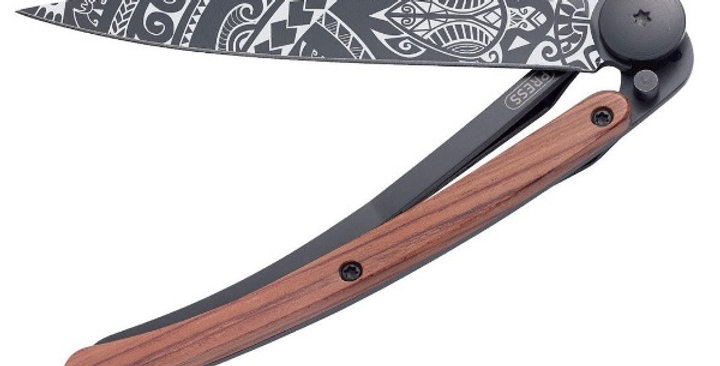 Couteau 37g, Deejo Bois Corail Polynésien