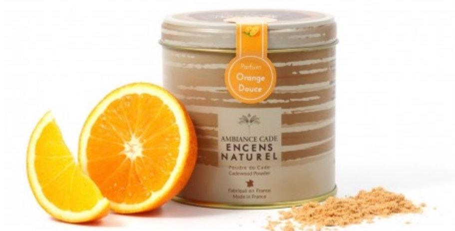 Boîte Encens En Poudre 90Gr Cade Orange, Ambiance Cade.