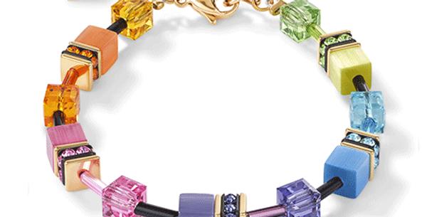 Bracelet Multicolor Rainbow-Gold, Cœur de Lion